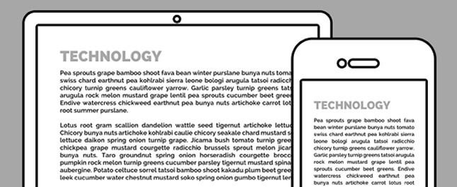 Responsive Typografia